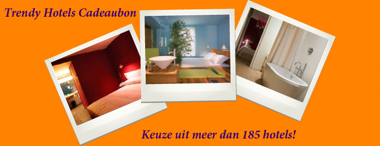 trendy hotels cadeaubon Luxe Hotel Cadeauvoucher: De Trendy Hotels Cadeaubon